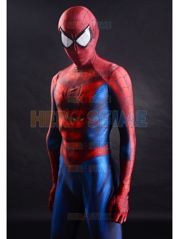 Spider-Man kostým Nejnovější klasický 3D tisk Spandex Spiderman Cosplay Halloween Fullbody Zentai oblek Doprava zdarma
