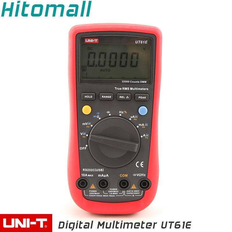 True RMS Professional Auto Range 22000 Counts 10A 1000V Resistance Capacitance Frequency UNI-T Digital Multimeter UT61E  цены