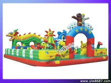 inflatable trampoline bouncer for children,inflatable fun city for outdoor amusement