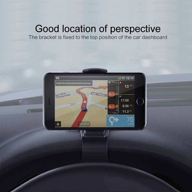 Universal Car Phone Holder 360 Degree Rotate Mobile Phone Stand Holder Adjustable Cell Phone Holder Mount For GPS IPhone Samsung