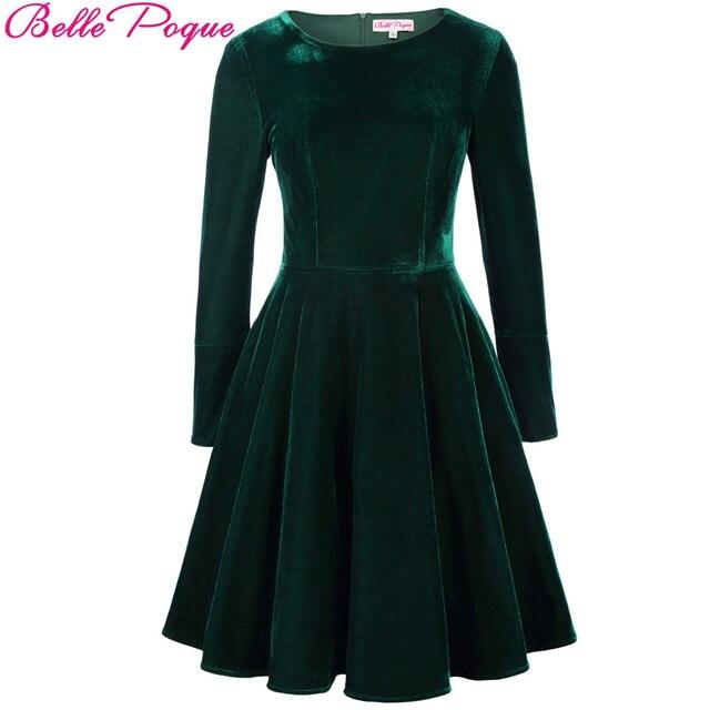 Belle Poque 2018 Big Size Womens Velvet Dresses Autumn Winter Long ...