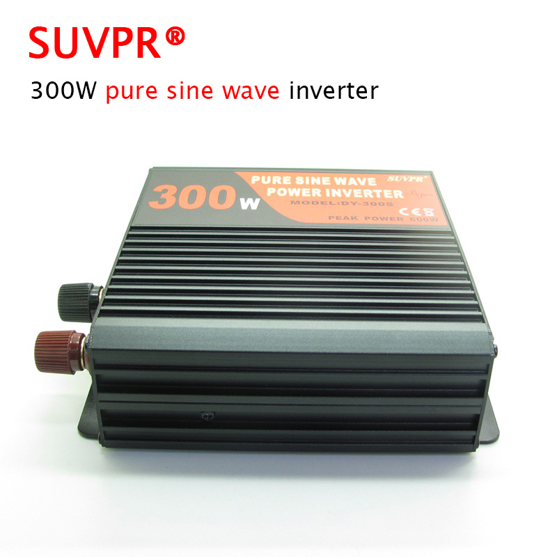 цена на SUVPR 300W pure sine wave car inverter auto DC 12V 24V to AC 220V power adapter CE FCC standards complied