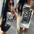 Las mujeres camisas de algodón tops para mujer de la camiseta vestido camiseta femme ropa de verano para mujer impreso ropa casual