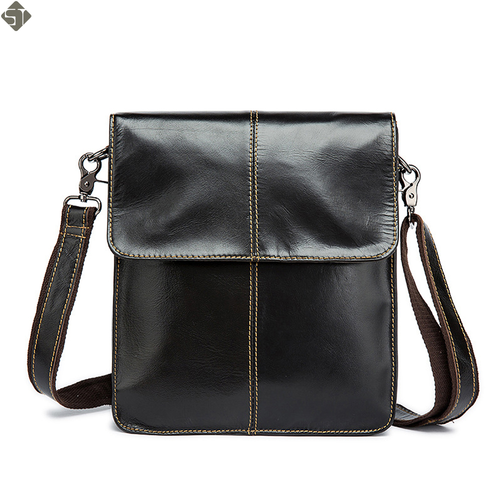 Fashion Brand New Men's Vintage Genuine Leather Messenger Bag Men Male Cowhide Shoulder Crossbody Mini Bags Crossbody Bags 2016 new fashion men s messenger bags 100% genuine leather shoulder bags famous brand first layer cowhide crossbody bags