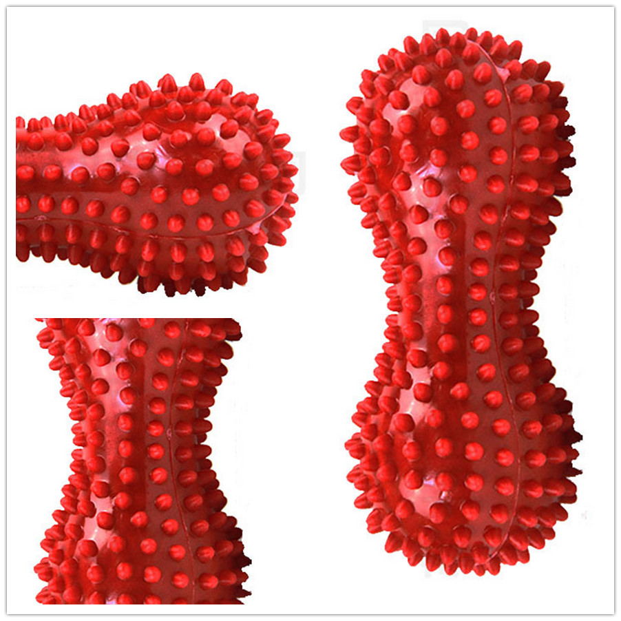Spiky Massage Ball - Fitness Balls, Sense to Strengthen Mini Peanut Massage Ball Soft for Back Foot Hand Training Ball Blue Red kifit 2x chinese baoding balls fitness handball health exercise stress relaxation therapy chrome hand massage ball 38mm