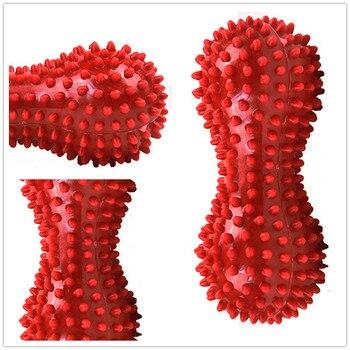 Spiky Massage Ball - Fitness Balls, Sense to Strengthen Mini Peanut Massage Ball Soft for Back Foot Hand Training Ball Blue Red