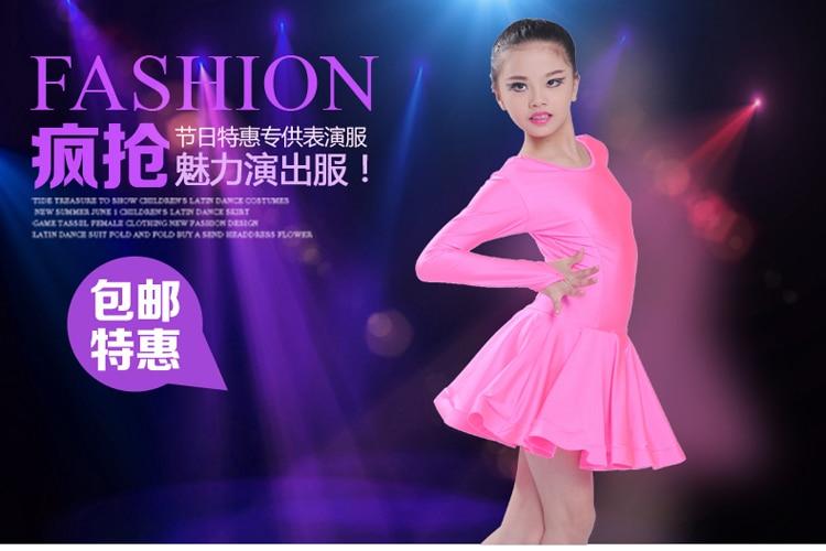 b19c2e283 2016 new style girls latin dance costumes senior cotton long sleeves latn  dance dress for girls latin dance dresses S 3XL-in Latin from Novelty &  Special ...