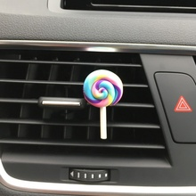 Auto Perfume Cute Lollipop Rainbow Air Vent Ornament Car Freshener Accessory Styling Solid Fragrance for Lady Gift