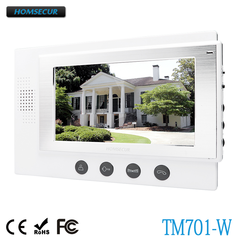 HOMSECUR TM701-W Indoor Monitor For HDW Wired Video Door Phone Intercom SystemHOMSECUR TM701-W Indoor Monitor For HDW Wired Video Door Phone Intercom System