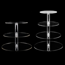 Cake Holder Round Acrylic 3/4 Tier Cupcake Cake Stand Assemble and Disassemble Home Birthday Tools Party Stands Decoration Gift
