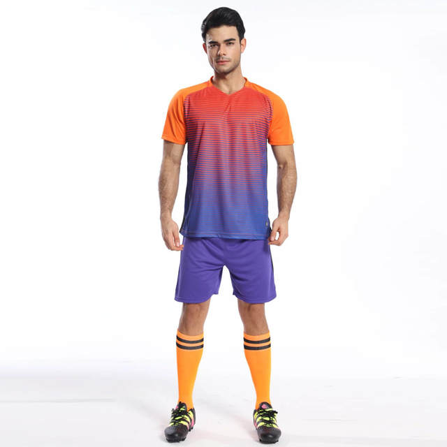 Online Shop Men Soccer Jersey Training Survetement Football Tracksuit 2016  2017 Breathable Set Sports Kits Kids Short Suits Maillot De Foot  a8e9f9a3e