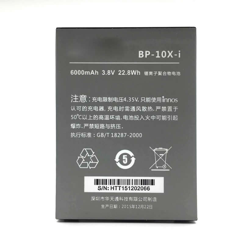 1PCS 100% innos BP-10X-i 6000mAh Battery For Highscreen Boost 2 II SE Innos D10 D10C D10F D10CF Bateria