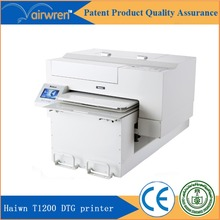 High resolution 1440dpi direct to garment printer t shirt inkjet flatbed printing machine with free rip software