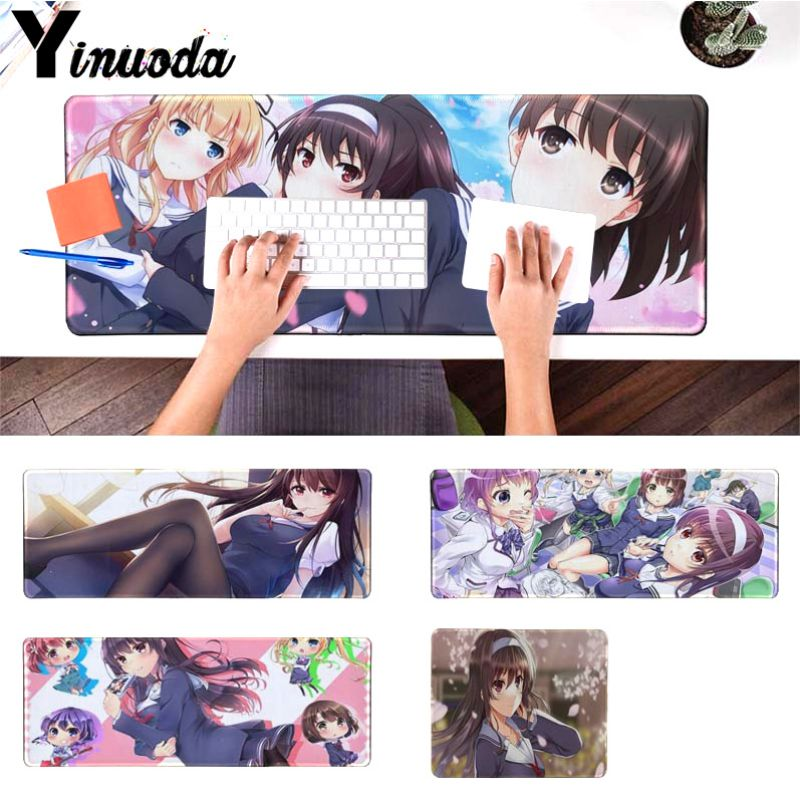Yinuoda amine your wife girl friend gift Katou Megumi Eriri gamer play mats Mousepad Size for 18x22cm 20x25cm 30x90cm 40x90cm image