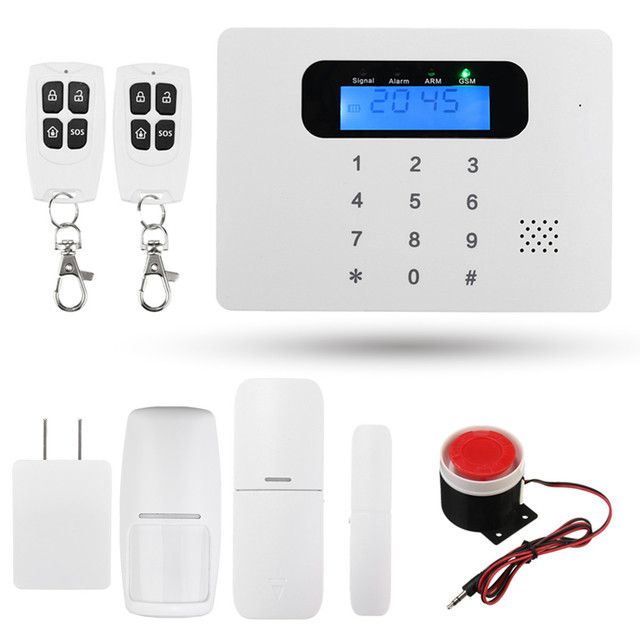 NEW GSM Autodial Wireless LCD Security Home House Office Burglar PSTN APP Alarm SMS for Home Security Protection