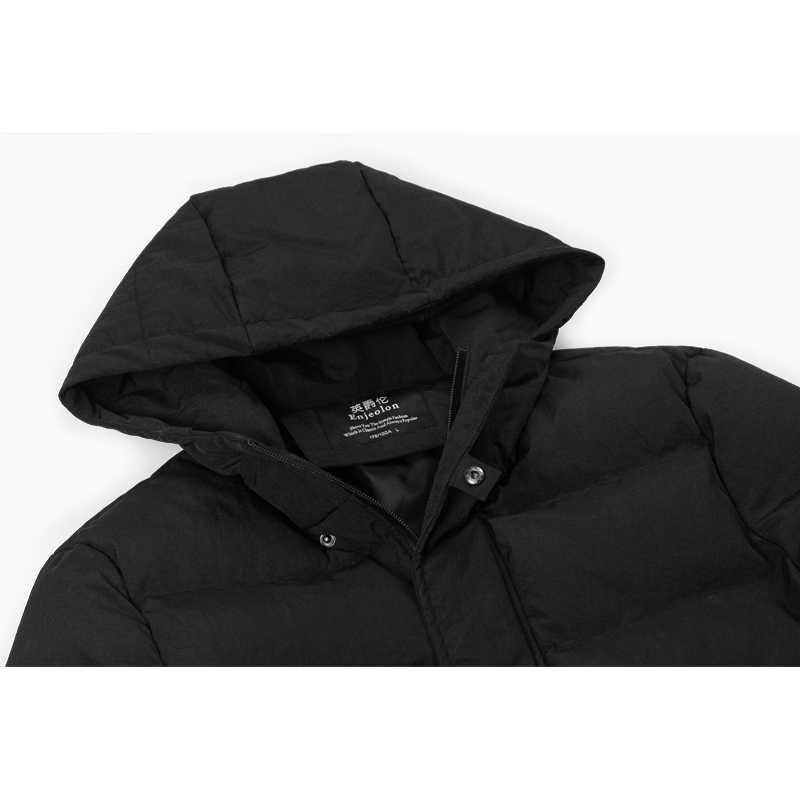 Enjeolon ブランド冬の綿フード付き男性、防風パーカーメンズ服厚いキルティングコートメンズパーカー MY0286