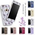 Doble capa de leopardo de impresión de la flor para iphone 6 6 s plus 5 5S SÍ Caso del Estampado leopardo de 360 Grados de Protección de Cuerpo Completo cubierta