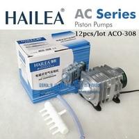 12pcs/lot Hailea ACO 308 30W 55L/Min Piston Air Compressor Pump Koi Fish Pond Hydroponic