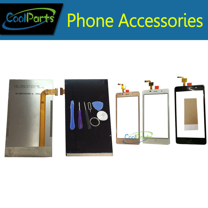 1PC/Lot High Quality For Leagoo M5  LCD Display Screen +Touch Screen Digitizer With Tools &Tape White Black Gold Color