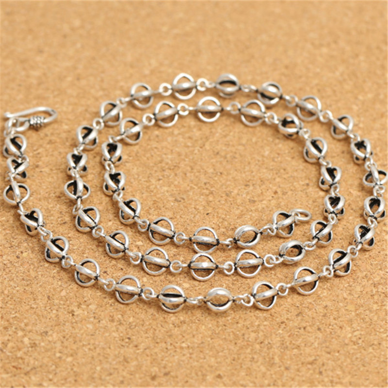 925 argent Sterling Double Dorje Rolo chaîne collier crochet fermoir 7mm 18