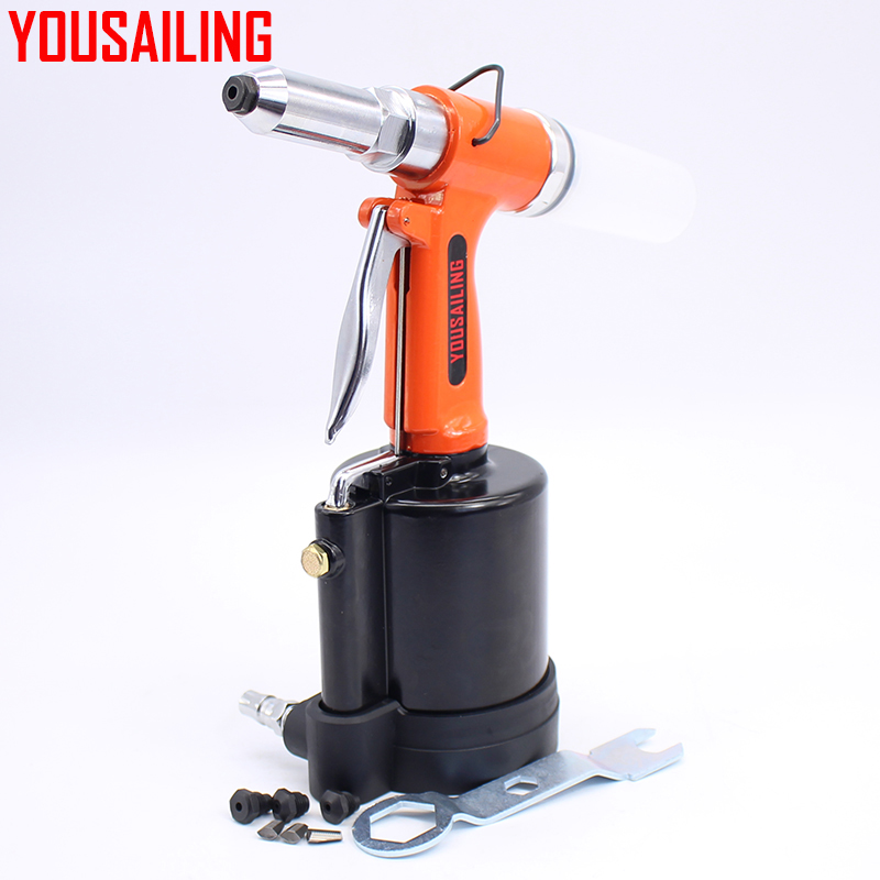цена на YOUSAILING Heavy Duty Air Riveter 3.2, 4.0, 4.8mm, 6.4mm Pneumatic Rivets Gun Air Riveter Gun Strong Riveter 6.4mm