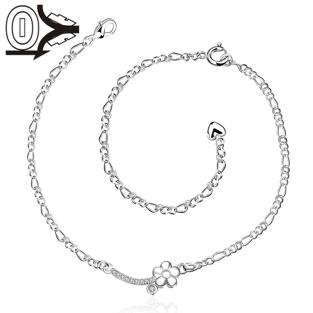 A016 Free Shipping New Design Large Stock Delicate Handmade Cheap Silver Plated Anklet Ladies Feet Chain Bracelets Bulk Sale