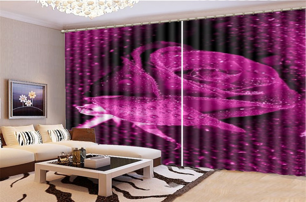 Wholesale 3d Curtain Living Room Delicate Dew-Filled Delicate Rose 3d Floral Curtain HD Print Beautiful Blackout CurtainsWholesale 3d Curtain Living Room Delicate Dew-Filled Delicate Rose 3d Floral Curtain HD Print Beautiful Blackout Curtains