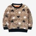 Otoño invierno moda de los niños T-shirt niño de doble cara de terciopelo rinde la ropa superior sin forro del niño