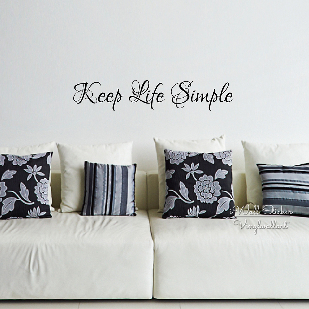 Keep Life Simple Quote Wall Sticker Inspirational Quote ...