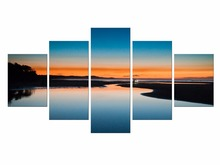 5 Pieces Free Shipping Landscape Beautiful sunrise Canvas Print Painting Modern Wall Art Home Decor Framed