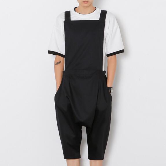 2016 Fashion Harajuku Designer Brand Trousers Rompers For Men Drop Crotch Harem Pants Cargo Overalls Casual Mens Pants Jumpsuit