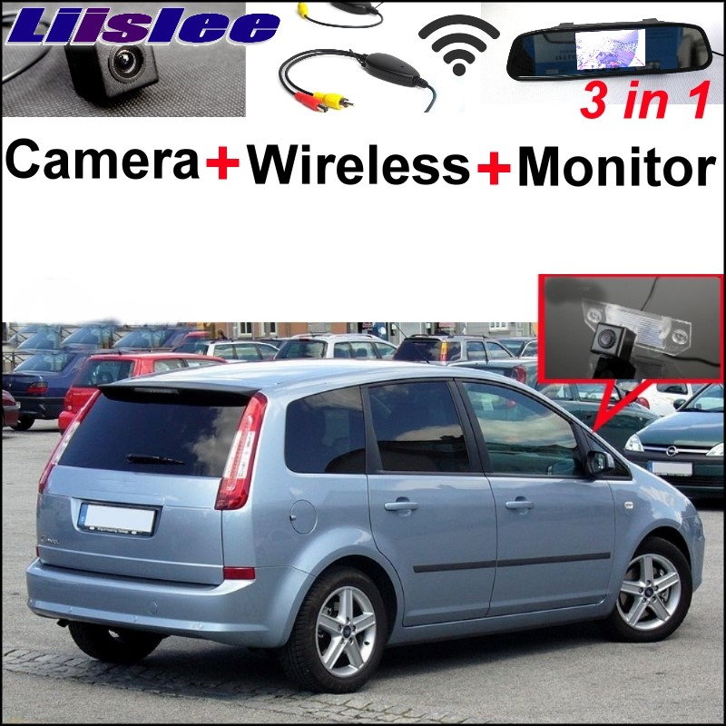 Liislee Special Rear View Camera Wireless Receiver Mirror Monitor EASY Parking System For Ford C Max