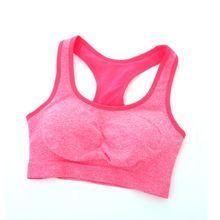 Women Seamless Racerback Padded Gym Sports Bra