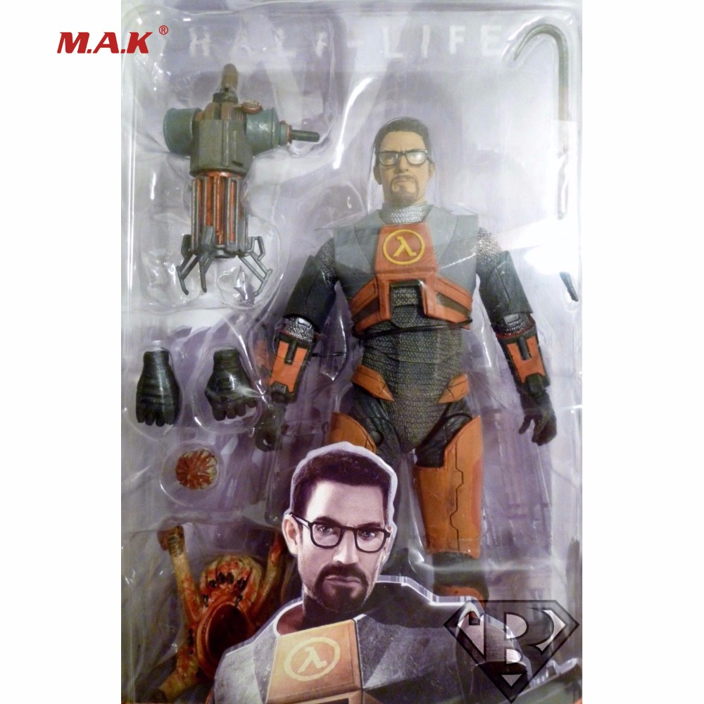 Movies Half-Life 2 Videogame Super Star Dr Gordon Freeman 7inches Figure Model Kids Toys Collections guinness world records the videogame wii