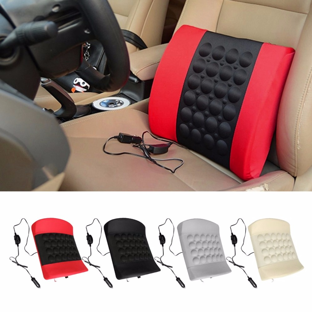 4 Colors Electric Massage Car Seat Soft Sponge Waist Support Pillow Bone Stimulate the Circulation of Blood Cushion Car Styling blood of the prodigal