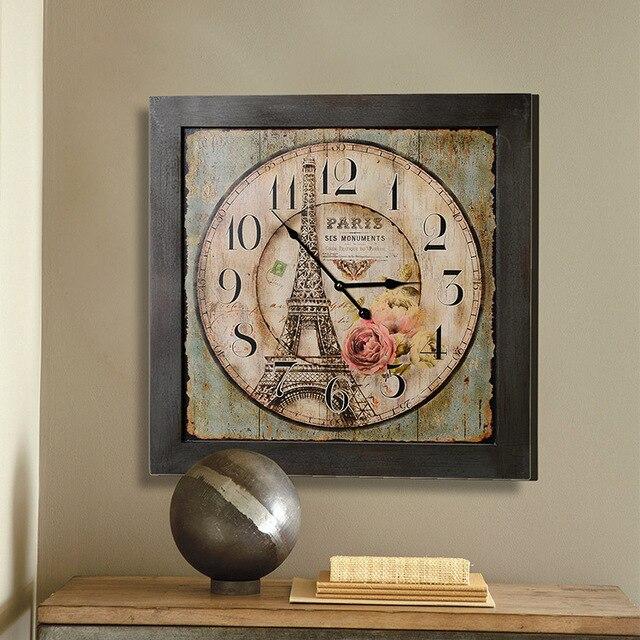 Neue Abteilung Der Amerikanischen Dekorative Wanduhren Uhr Turm Quadrat  Grüne Markt Gesichter Die Wohnzimmer Wanduhr