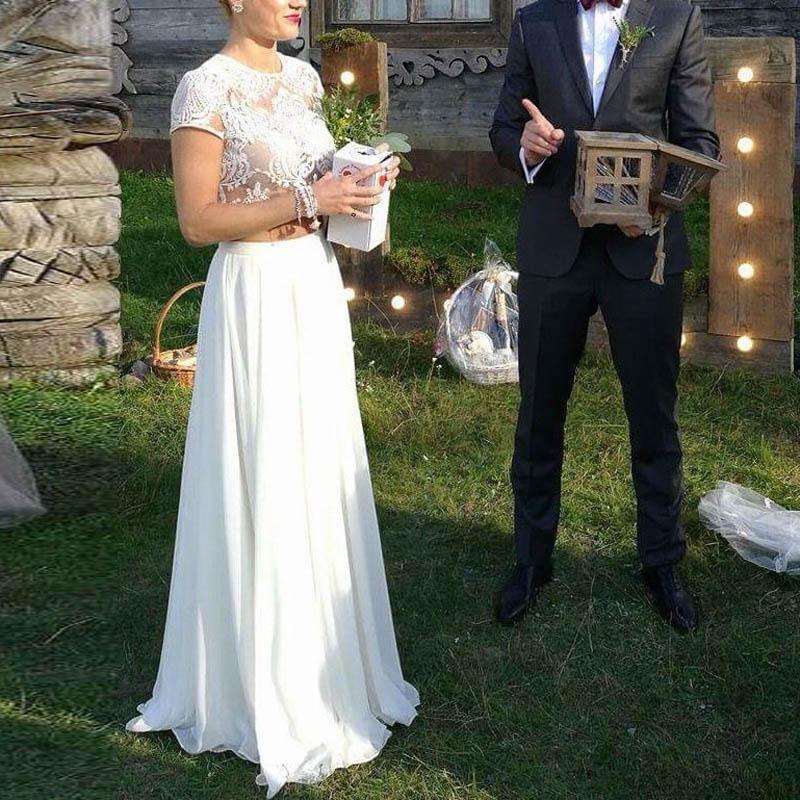 Bohemian Chiffon Long Skirt High Waist Floor Length Modest Wedding Skirts For Bridal Female Faldas Saia Any Color Size Available