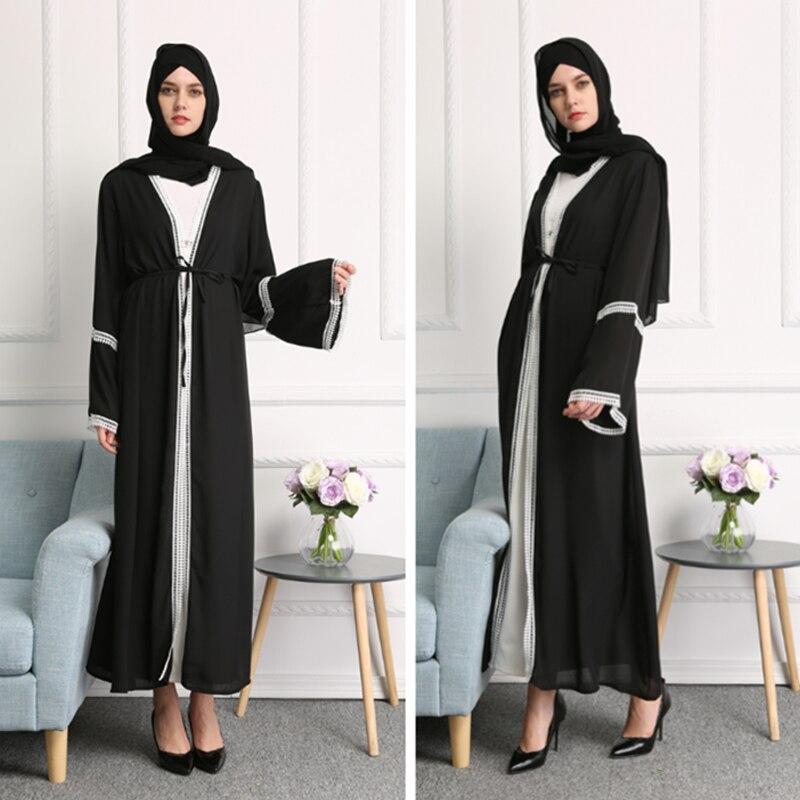 Plus Size Abaya Muslim Dubai Bangladesh Kimono Long Lace Maxi Cardigan Hijab Dress Abayas For Women Turkish Islamic Clothing