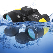 AOMEKIE 7X50 Binoculars Rangefinder Compass Hunting Boating Military Marine Telescope HD BAK4 Prism Folating Nitrogen Waterproof