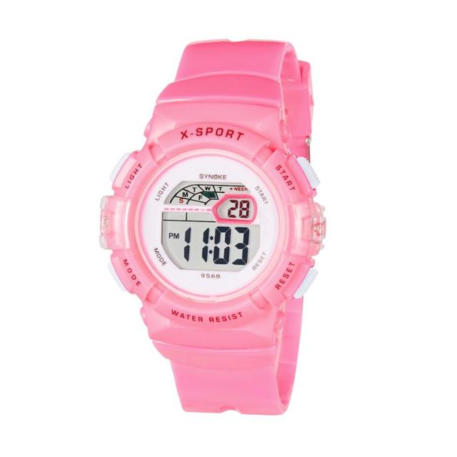 SYNOKE Waterproof Children Boys Girl Digital LED Sports With Date Wrist Watch