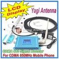 Lcd! Cdma 850 Mhz reforço de sinal de celular CDMA 980, Cdma repetidor de sinal + 9 dBi 5 unidades Yagi antena + 10 M cabo