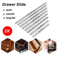 2Pcs 8-16 Ball Bearing Drawer Slides Steel Ball Bearing Slides Keyboard Cabinet Cupboard Drawer Runners For Furniture Slide