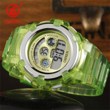 OHSEN Kids Watches Children Digital LED Fashion Sport Watch Cute Boys Girls Wrist watch Waterproof Gift Watch Alarm Kids Clock(China)