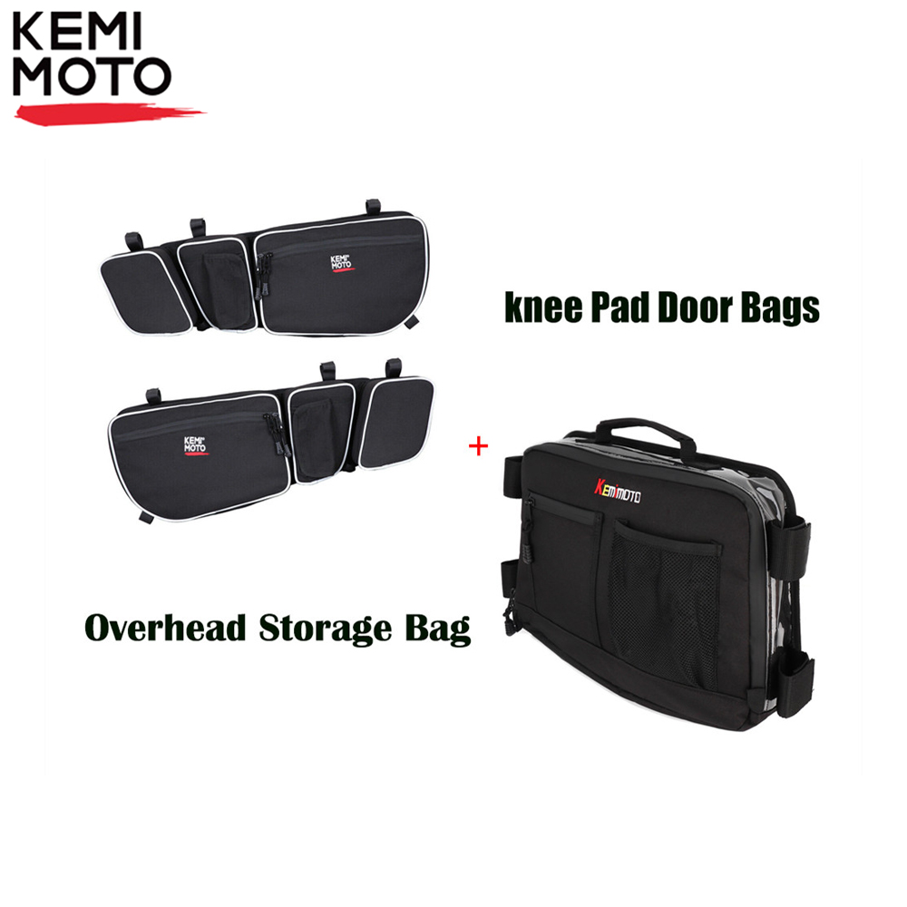 KEMIMOTO Overhead Storage Bag And Side Door Bag Set UTV For Can-Am Maverick X3 MAX 2017 2018