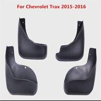 4Pcs For Chevrolet Trax 2015 2016 Black Front Rear Molded Car Mud Flaps Splash Guards Mudguard Mudflaps Fenders