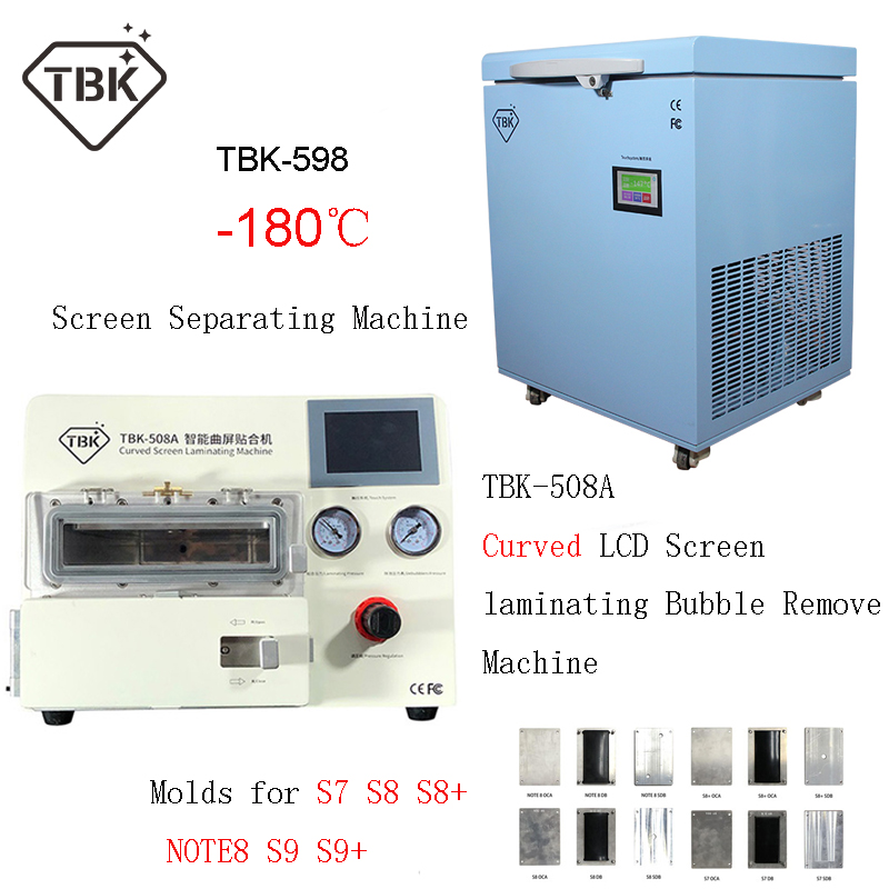 TBK 598 180 LCD Curved Touch Screen Freezing Separating Machine TBK 508A Vacuum Laminating bubble remover