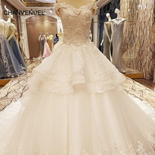 LS63227 special wedding dresses lace ball gown corset back wedding gowns 2017 robe de mariage real photos