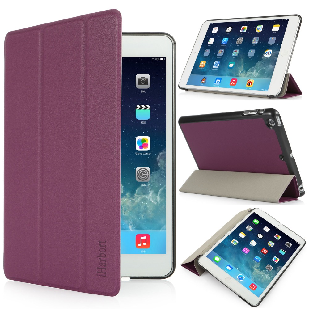 Stand Case for iPad mini 3/2/1, iHarbort PU Magnetic Leather mini Smart Case Cover Stand with 3 Fold and Auto Sleep/ Wake Up