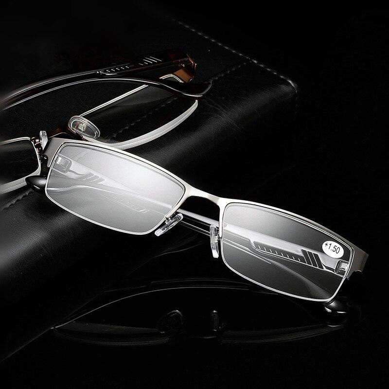 f090061994603 Homens Óculos De Leitura KUJUNY Masculinos de Alta Qualidade Óculos de  Metal Meia Armação Óculos Para Presbiopia Anti Radiação Idosos
