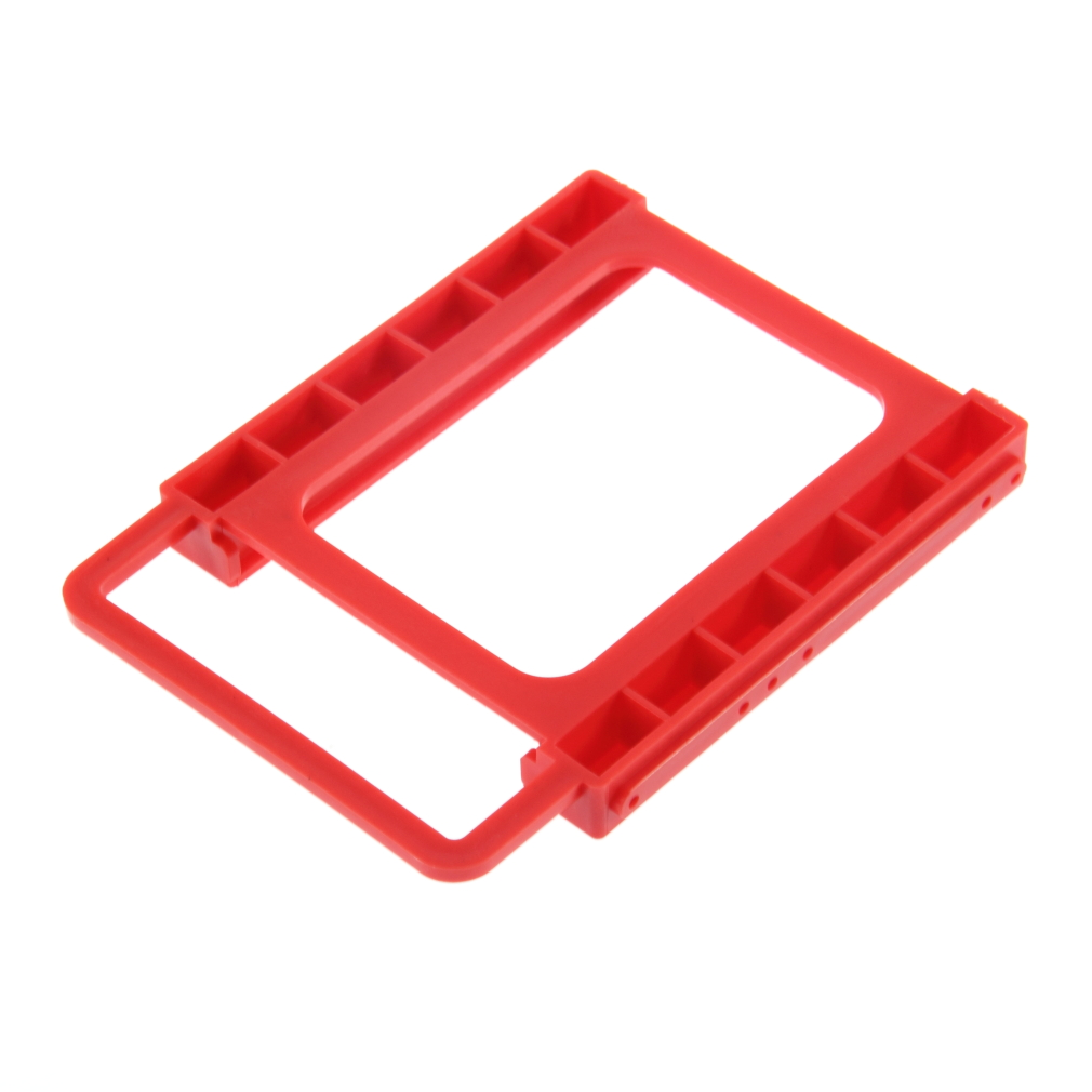 "2.5"" To 3.5"" SSD HDD Notebook Hard Disk Drive Mounting Rail Adapter Bracket Holder With Screws Red Wholesale"